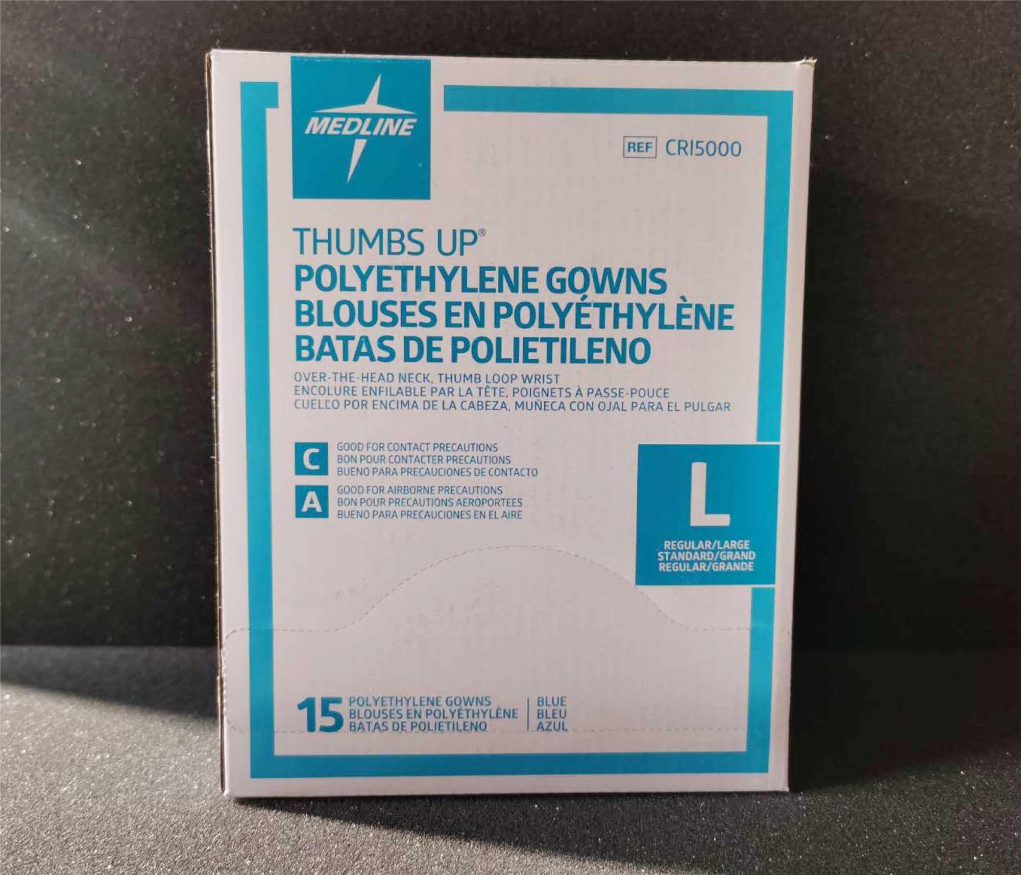CanGard Care - Medline Gown Polyethylene