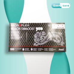 Ancell MICROFLEX Black Dragon Medical Nitrile Gloves, Black, Size-Medium, 100pcs