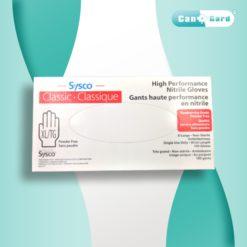 SYSCO High Performance Nitrile Gloves, Blue, Food Grade, Size-Large, 100pcs