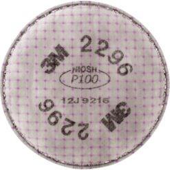 3M 2296 Respirator Prefilters, Particulate Filter, Acid Gas/P100