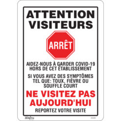 Do not visit today COVID signs in french Canada