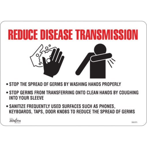 PPE and reduce disease transimission signs Canada