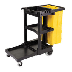 Janitor cart for disinfecting and cleaning products