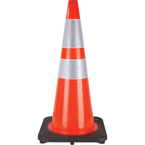 Traffic cone for disinfecting and cleaning products