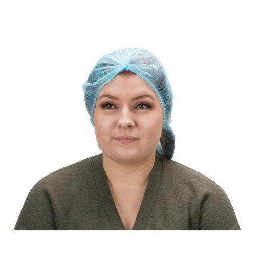 PPE & Pleated-Bouffant-Cap-Polypropylene